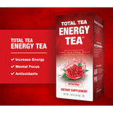 Herbal Energy Tea from Total Tea - Increase Your Energy & Focus - 25 Tea Bags