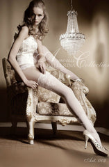Ballerina Hold Ups 003 (White) - Hold Up Stockings - Ballerina - Charm and Lace Boutique