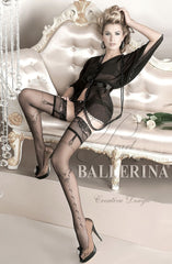 Ballerina Hold Ups 127 (Black) - Hold Up Stockings - Ballerina - Charm and Lace Boutique