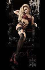 Ballerina Hold Ups 187 (Black) - Hold Up Stockings - Ballerina - Charm and Lace Boutique