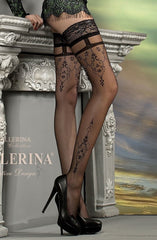 Ballerina Hold Ups 212 (Black) - Hold Up Stockings - Ballerina - Charm and Lace Boutique