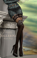 Ballerina Hold Ups 221 (Black) - Hold Up Stockings - Ballerina - Charm and Lace Boutique