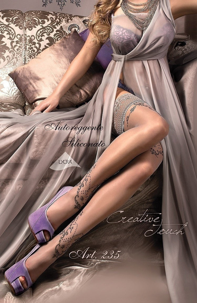 Ballerina Hold Ups 235 (Smoke) - Hold Up Stockings - Ballerina - Charm and Lace Boutique