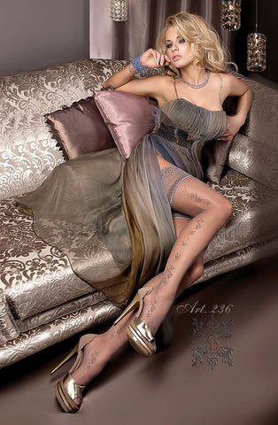 Ballerina Hold Ups 236 (Smoke) - Hold Up Stockings - Ballerina - Charm and Lace Boutique