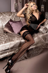 Ballerina Hold Ups 243 (Black) - Hold Up Stockings - Ballerina - Charm and Lace Boutique