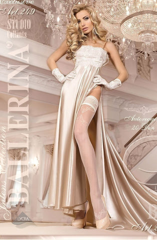 Ballerina Hold Ups 249 (Ivory) - Hold Up Stockings - Ballerina - Charm and Lace Boutique