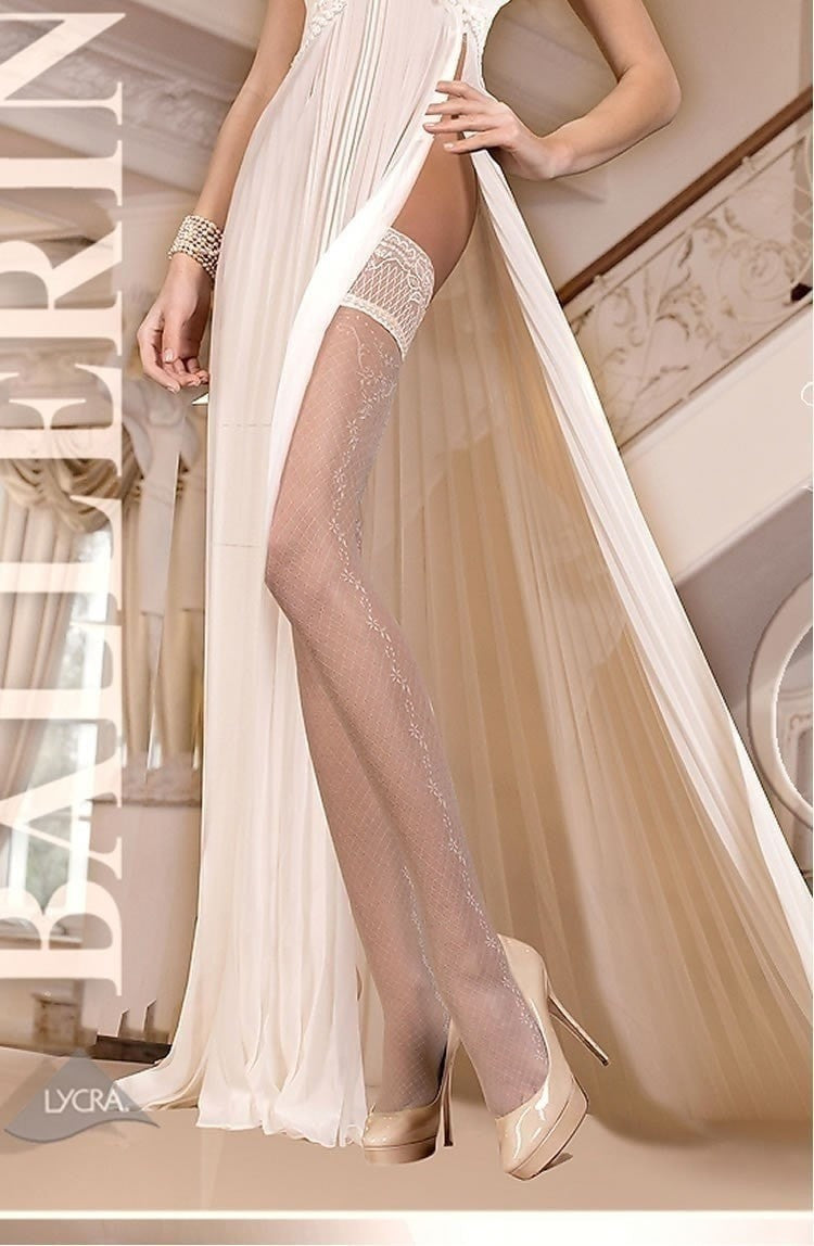 Ballerina Hold Ups 254 (Ivory) - Hold Up Stockings - Ballerina - Charm and Lace Boutique
