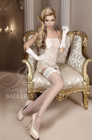 Ballerina Hold Ups 256 (White) - Hold Up Stockings - Ballerina - Charm and Lace Boutique