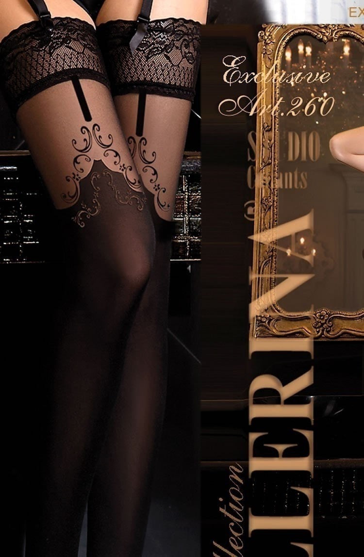 Ballerina Hold Ups 260 (Black) - Hold Up Stockings - Ballerina - Charm and Lace Boutique