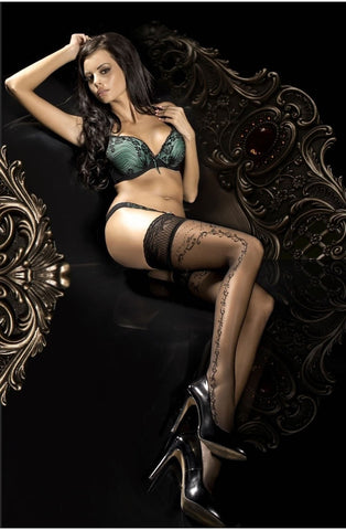 Ballerina Hold Ups 286 (Black) - Hold Up Stockings - Ballerina - Charm and Lace Boutique