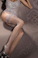 Ballerina Hold Ups 294 (Smoke) - Hold Up Stockings - Ballerina - Charm and Lace Boutique