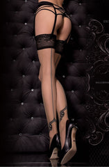 Ballerina Hold Ups 321 (Black) - Hold Up Stockings - Ballerina - Charm and Lace Boutique