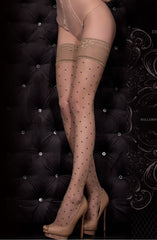 Ballerina Hold Ups 325 (Black/Skin) - Hold Up Stockings - Ballerina - Charm and Lace Boutique