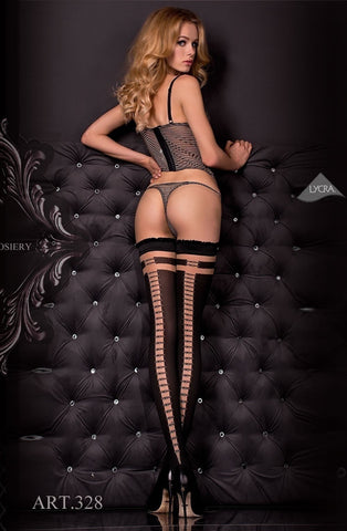 Ballerina Hold Ups 328 (Black) - Hold Up Stockings - Ballerina - Charm and Lace Boutique