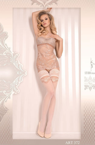 Ballerina Hold Ups 372 (Ivory) - Hold Up Stockings - Ballerina - Charm and Lace Boutique
