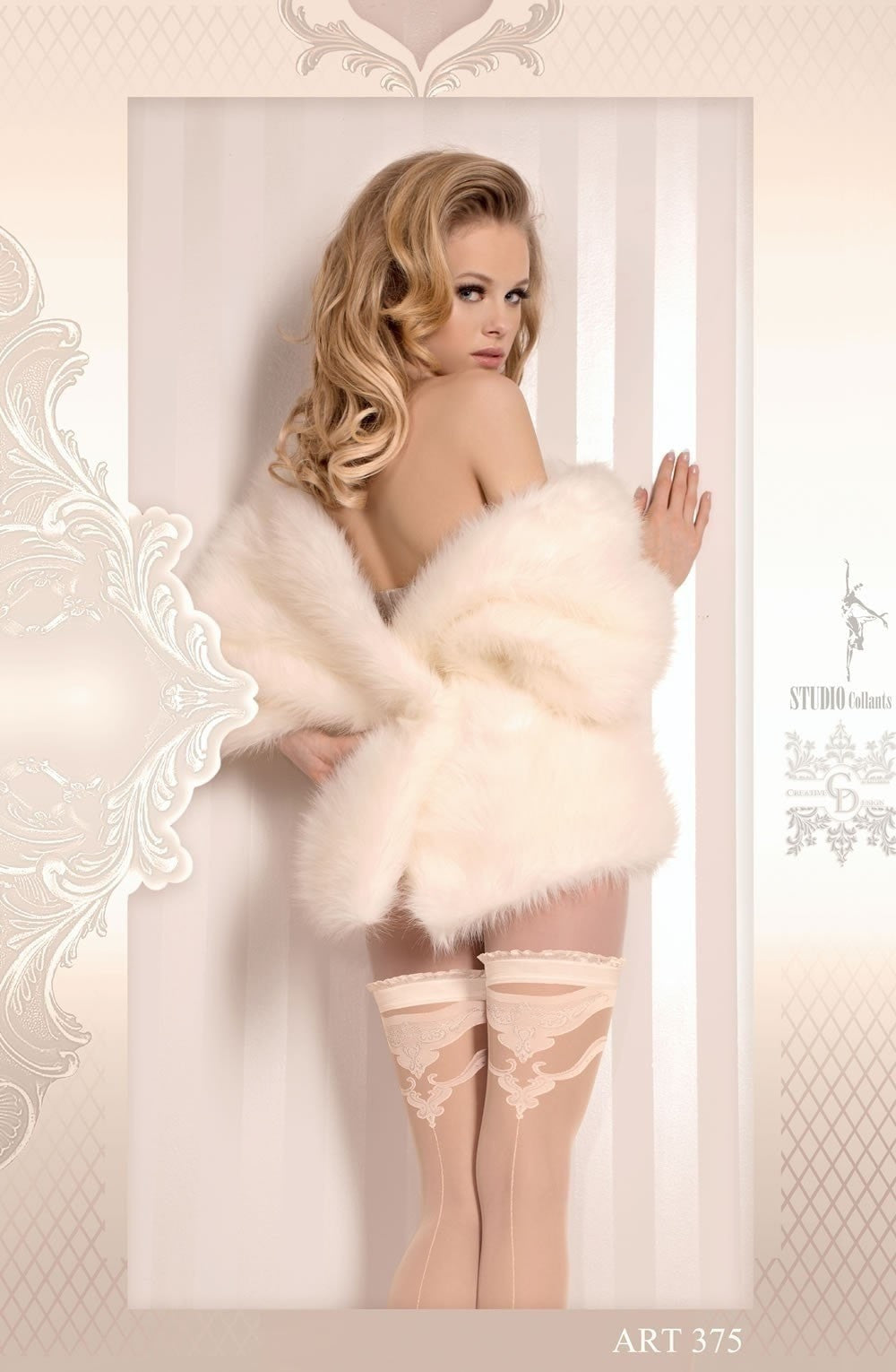Ballerina Hold Ups 375 (Ivory) - Hold Up Stockings - Ballerina - Charm and Lace Boutique
