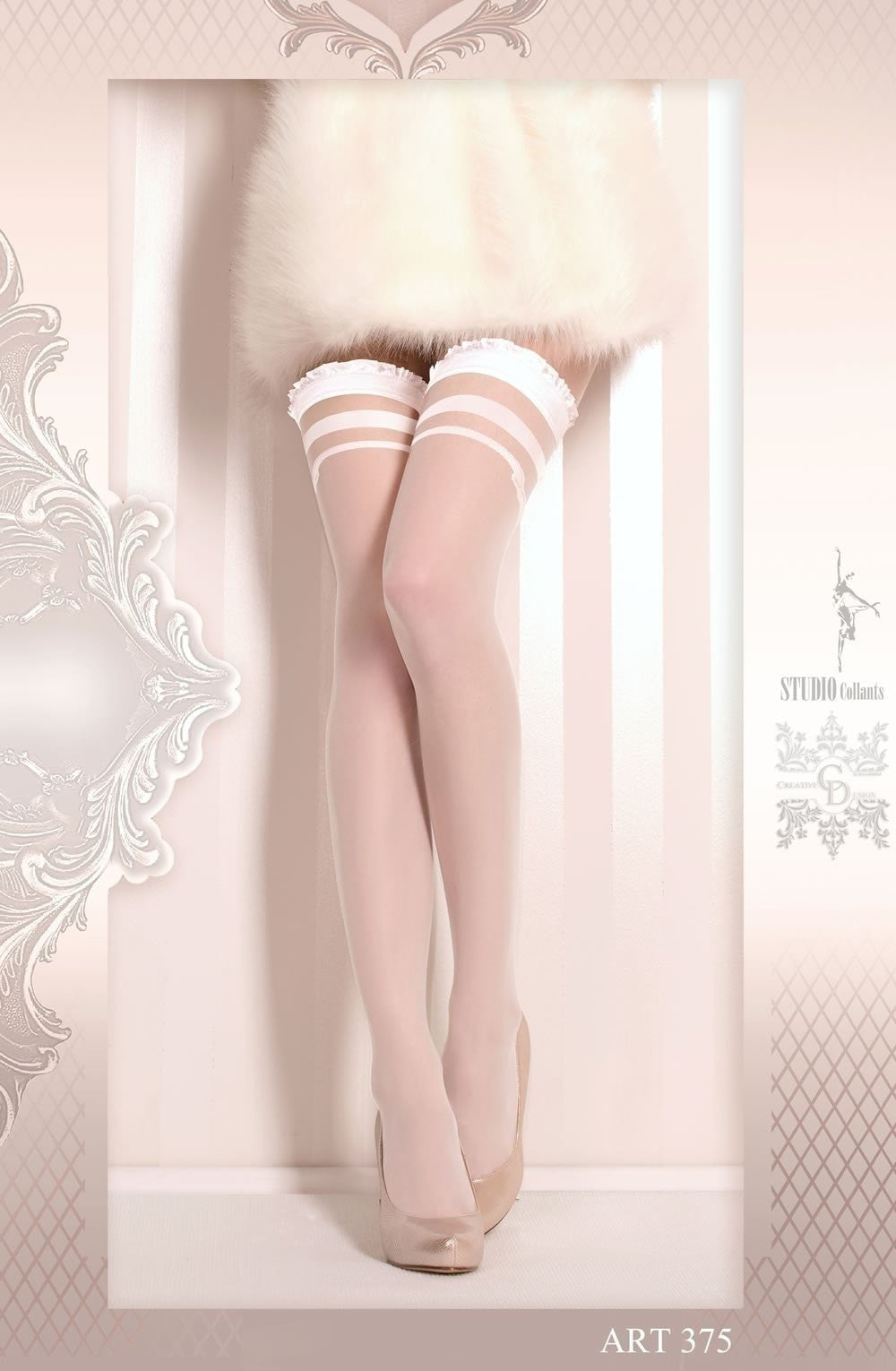 Ballerina Hold Ups 375 (White) - Hold Up Stockings - Ballerina - Charm and Lace Boutique