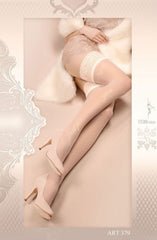 Ballerina Hold Ups 379 (Ivory) - Hold Up Stockings - Ballerina - Charm and Lace Boutique