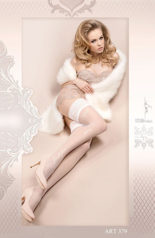 Ballerina Hold Ups 379 (White) - Hold Up Stockings - Ballerina - Charm and Lace Boutique