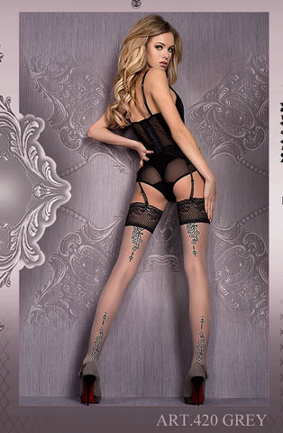 Ballerina Hold Ups 420 - Hold Up Stockings - Ballerina - Charm and Lace Boutique