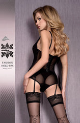 Ballerina Hold Ups 421 (Black) - Hold Up Stockings - Ballerina - Charm and Lace Boutique