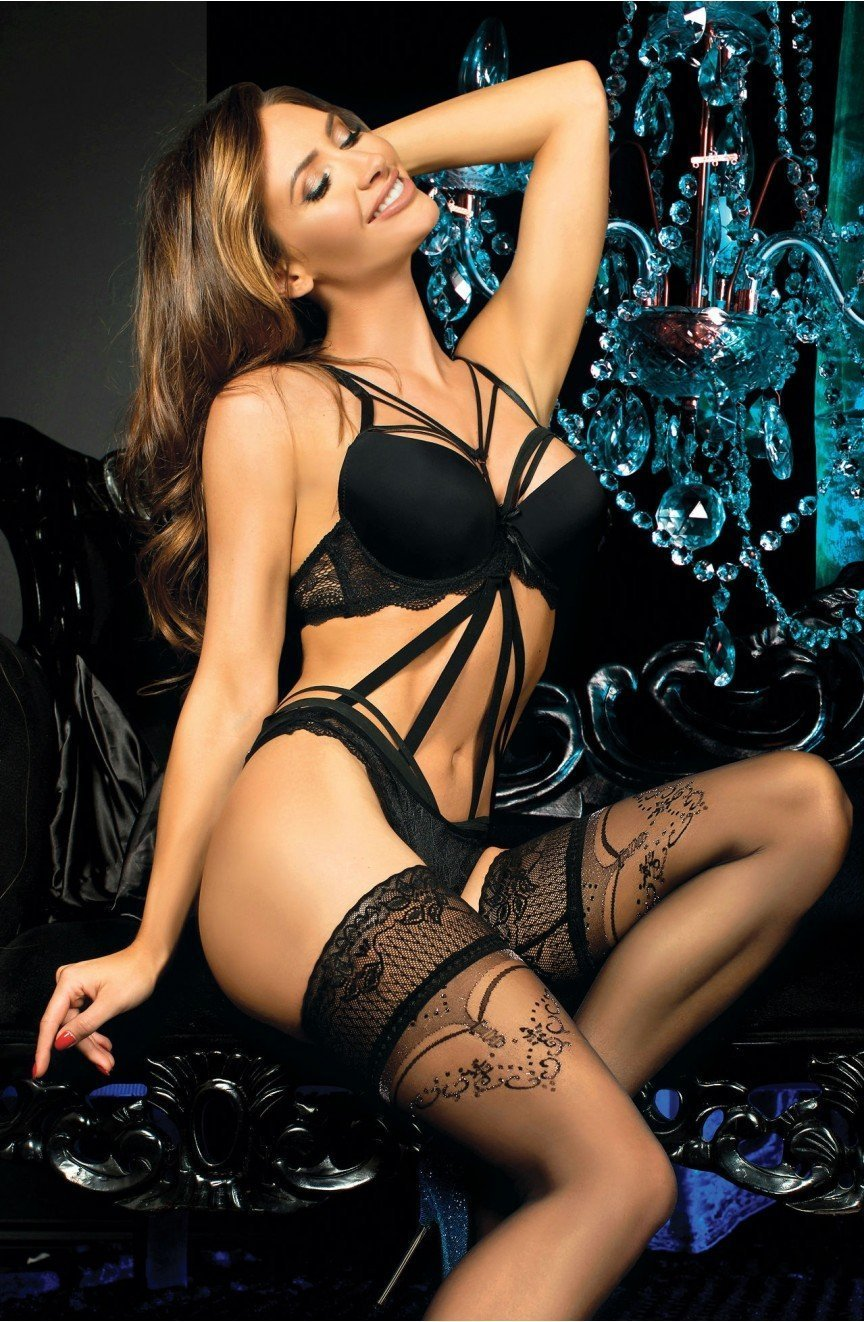 Ballerina Hold Ups 441 (Nero/Black) - Hold Up Stockings - Ballerina - Charm and Lace Boutique