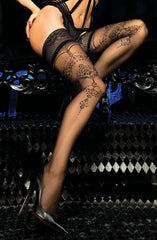 Ballerina Hold Ups 442 (Nero/Black) - Hold Up Stockings - Ballerina - Charm and Lace Boutique