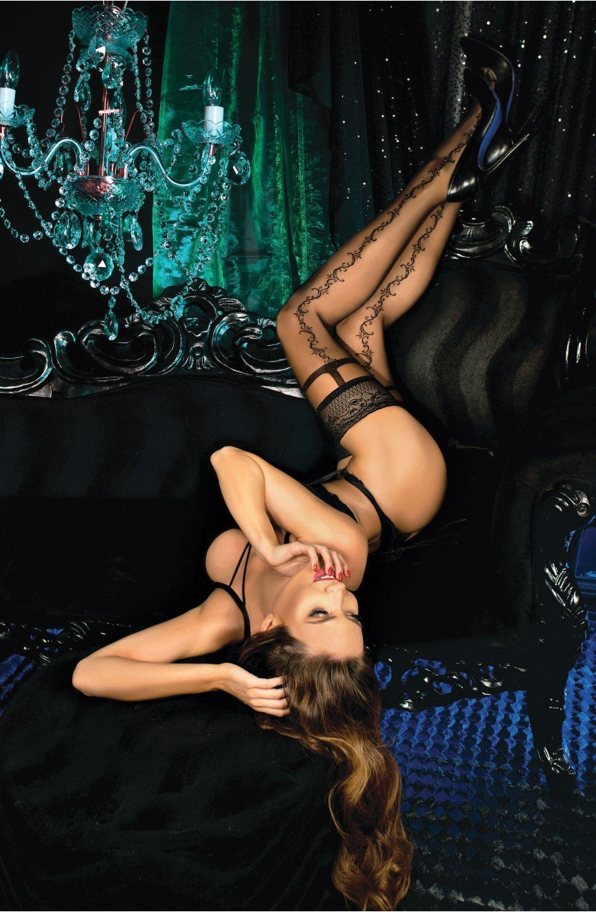 Ballerina Hold Ups 444 (Nero/Black) - Hold Up Stockings - Ballerina - Charm and Lace Boutique