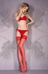 Ballerina Hold Ups 700 (Red) - Hold Up Stockings - Ballerina - Charm and Lace Boutique