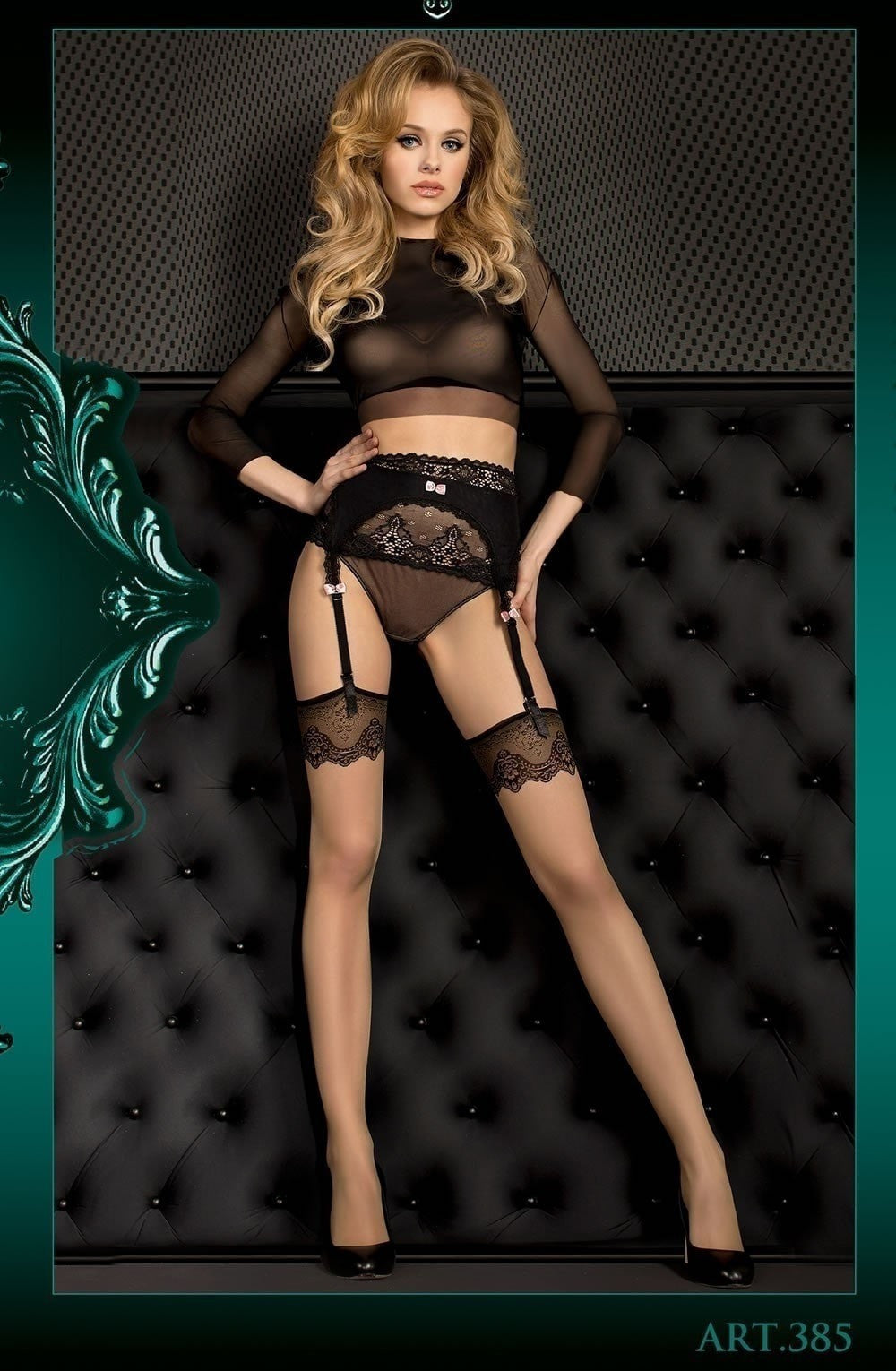 Ballerina Stockings 385 (Skin) - Stockings - Ballerina - Charm and Lace Boutique
