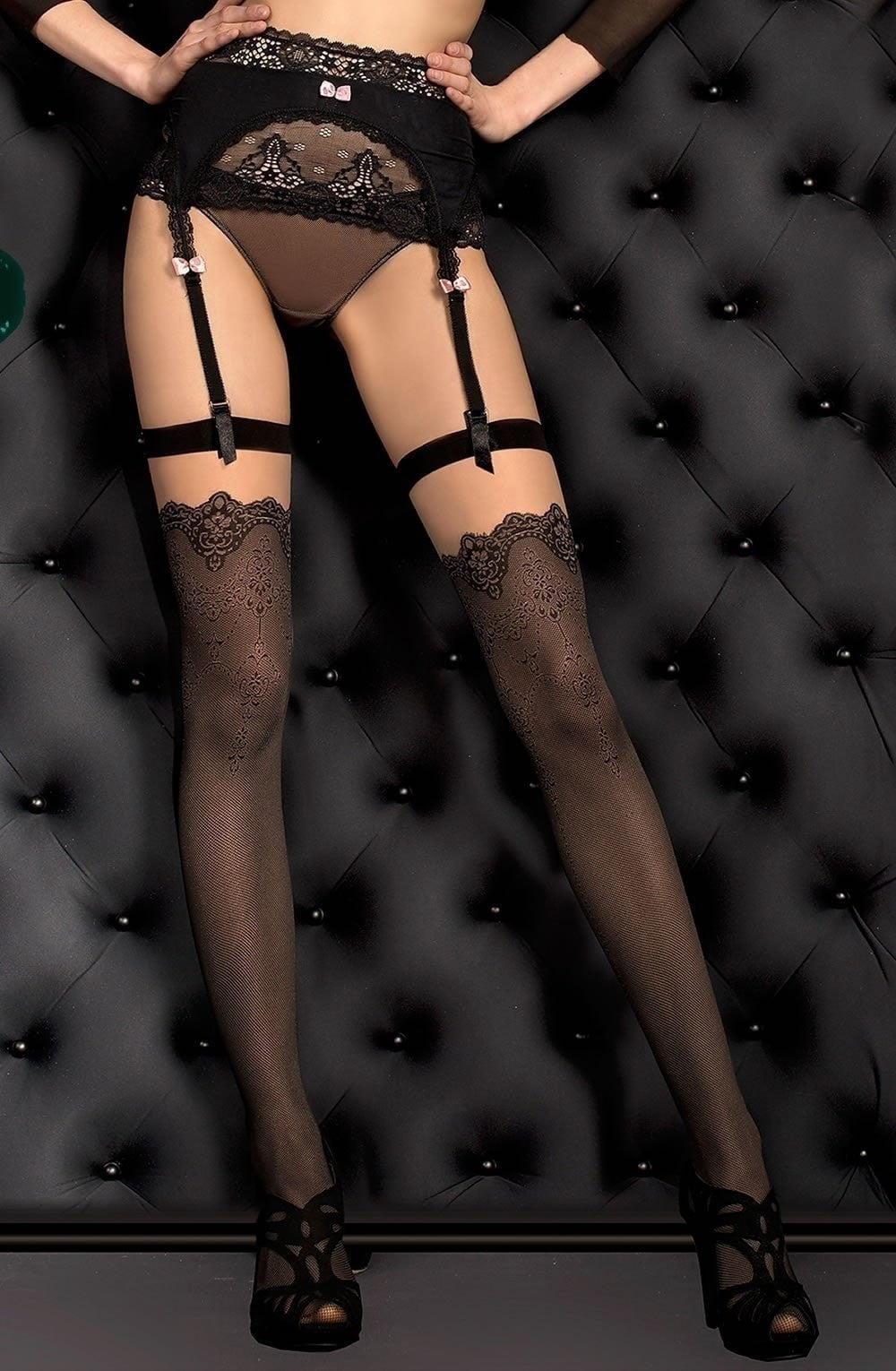 Ballerina Stockings 388 (Skin) - Stockings - Ballerina - Charm and Lace Boutique