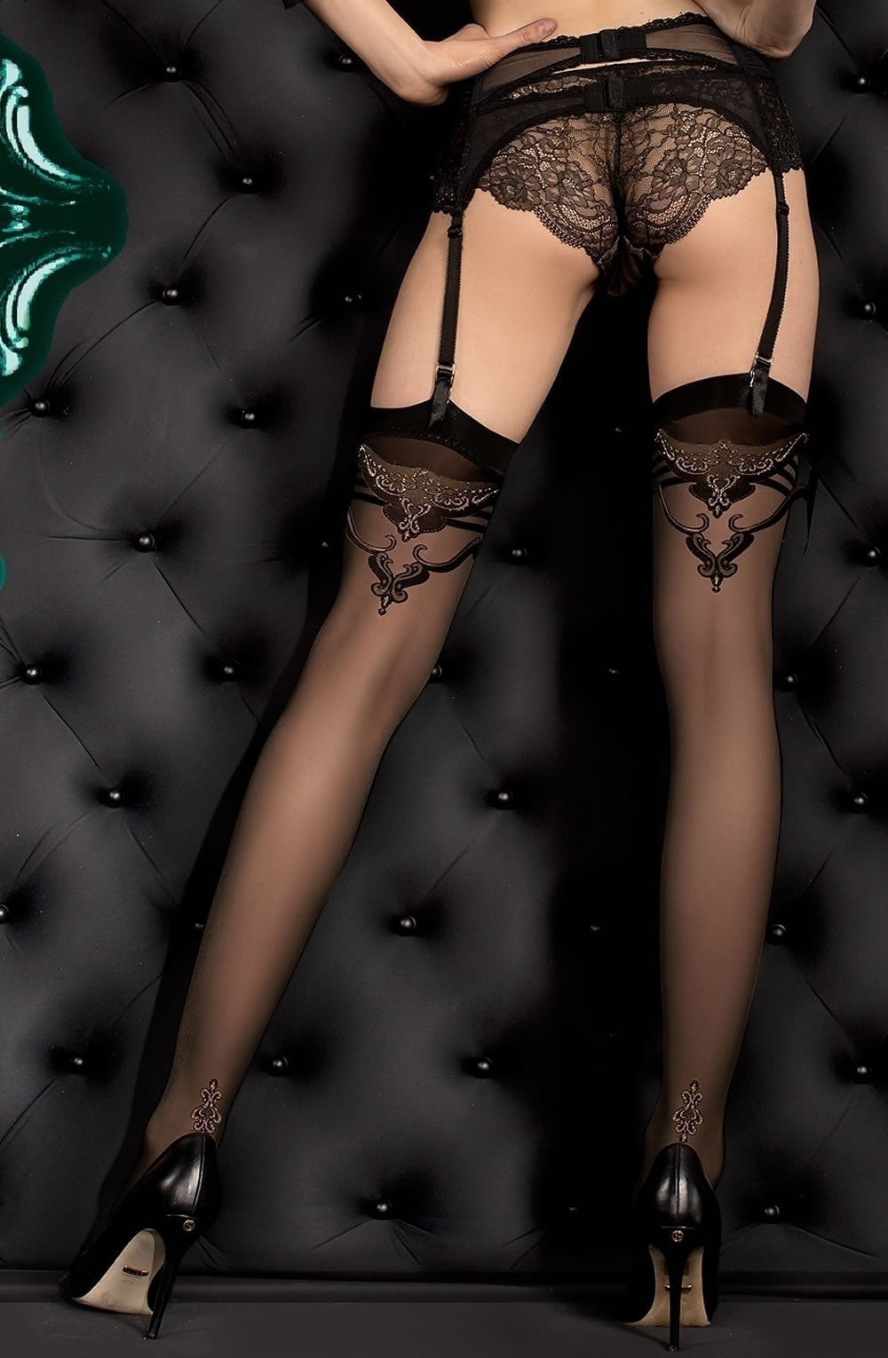 Ballerina Stockings 391 (Black) - Stockings - Ballerina - Charm and Lace Boutique
