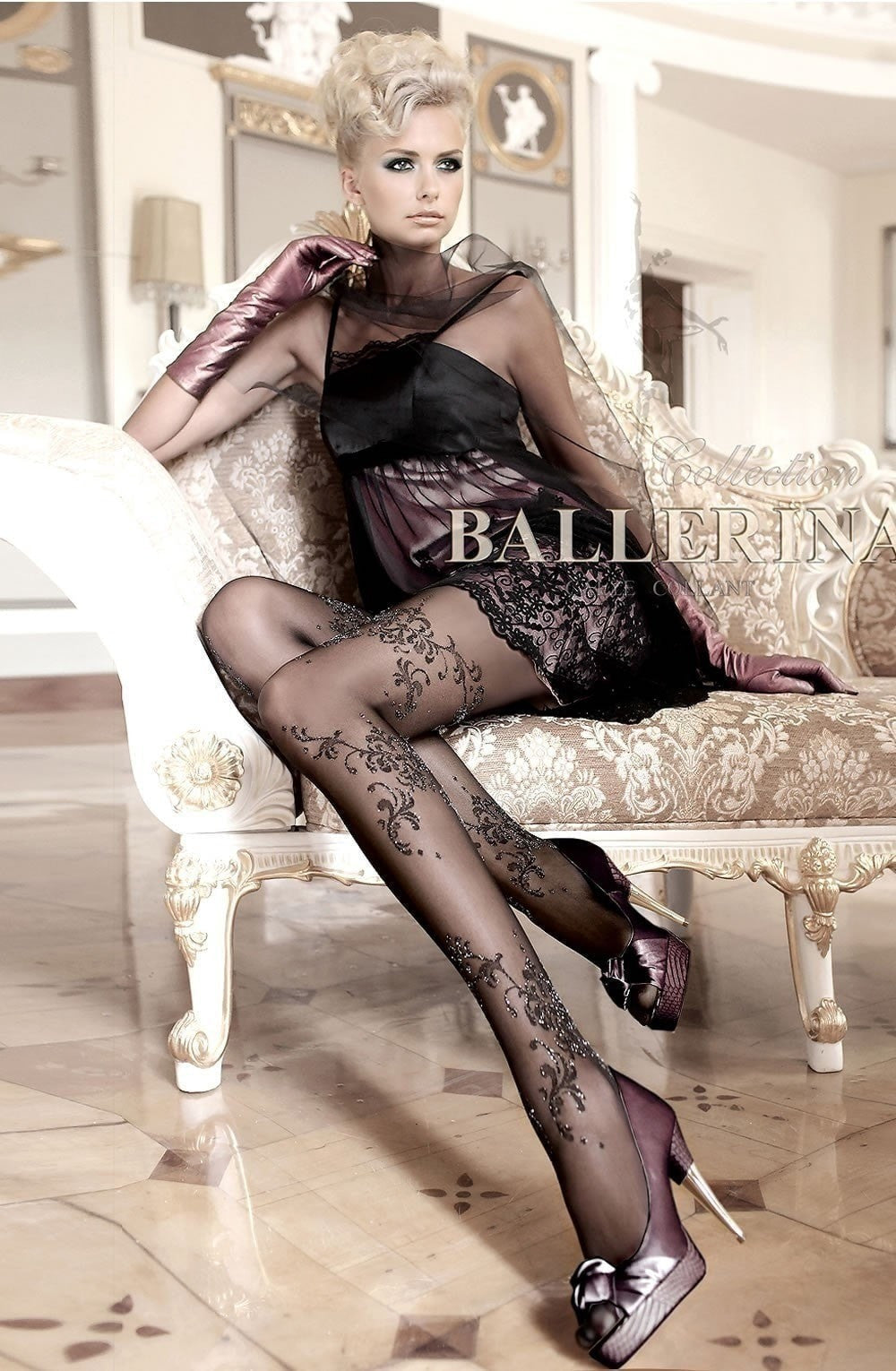 Ballerina Tights 096 (Black) - Tights - Ballerina - Charm and Lace Boutique