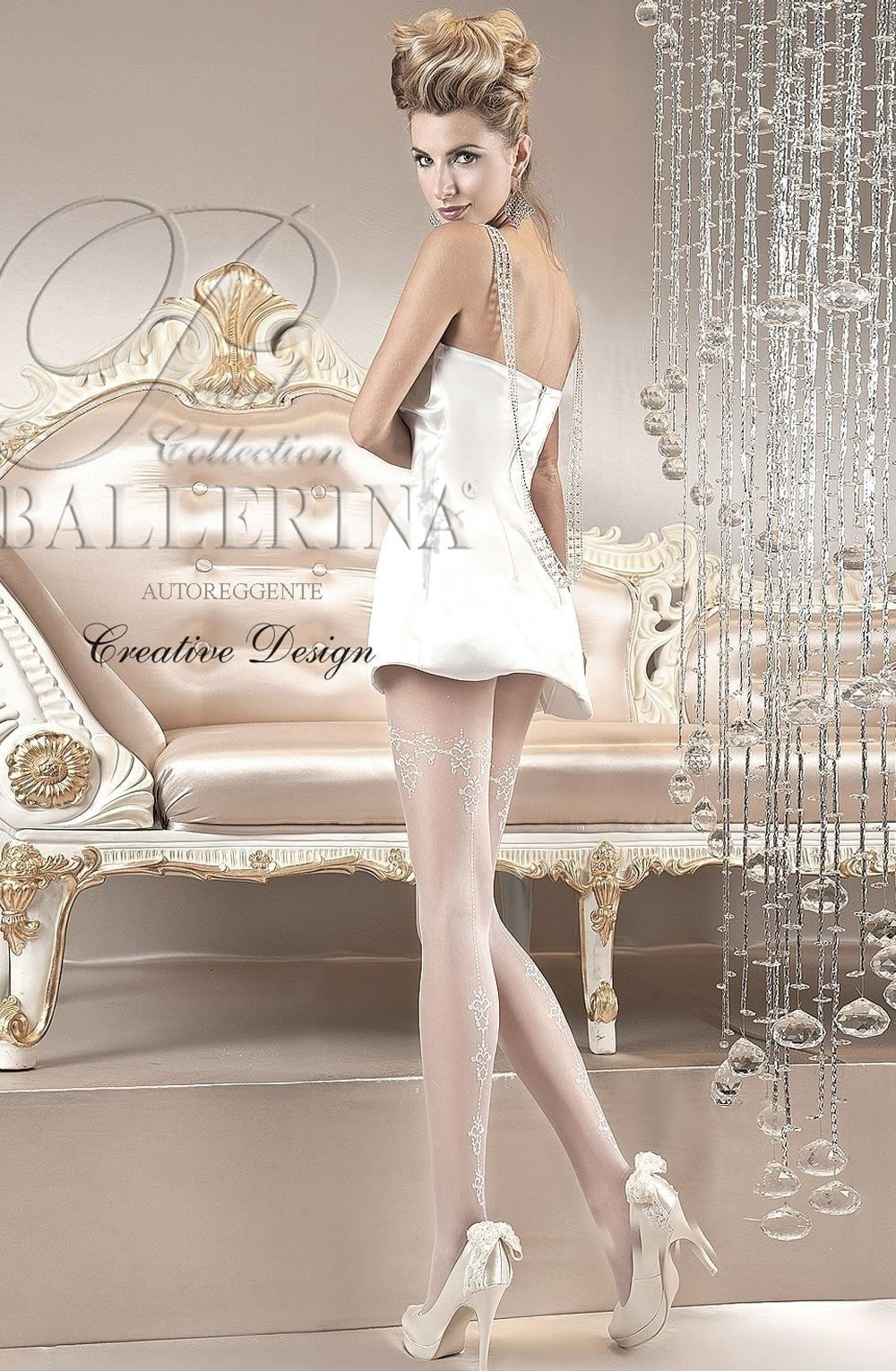 Ballerina Tights 110 (White) - Tights - Ballerina - Charm and Lace Boutique