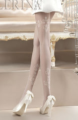 Ballerina Tights 118 (White) - Tights - Ballerina - Charm and Lace Boutique