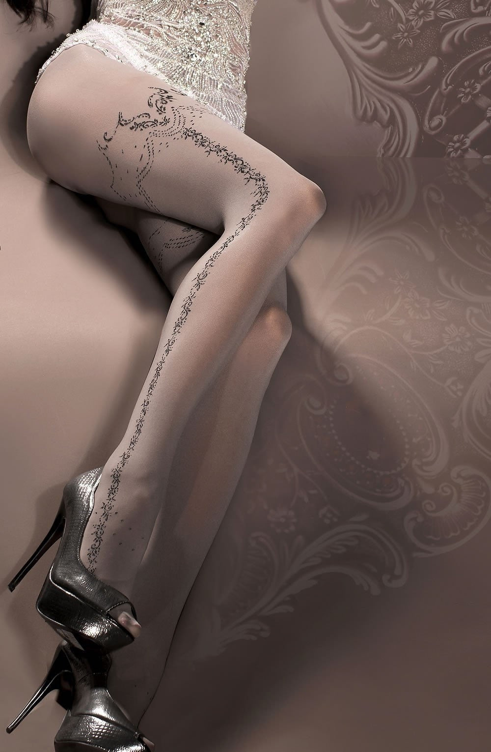 Ballerina Tights 296 (Smoke) - Tights - Ballerina - Charm and Lace Boutique