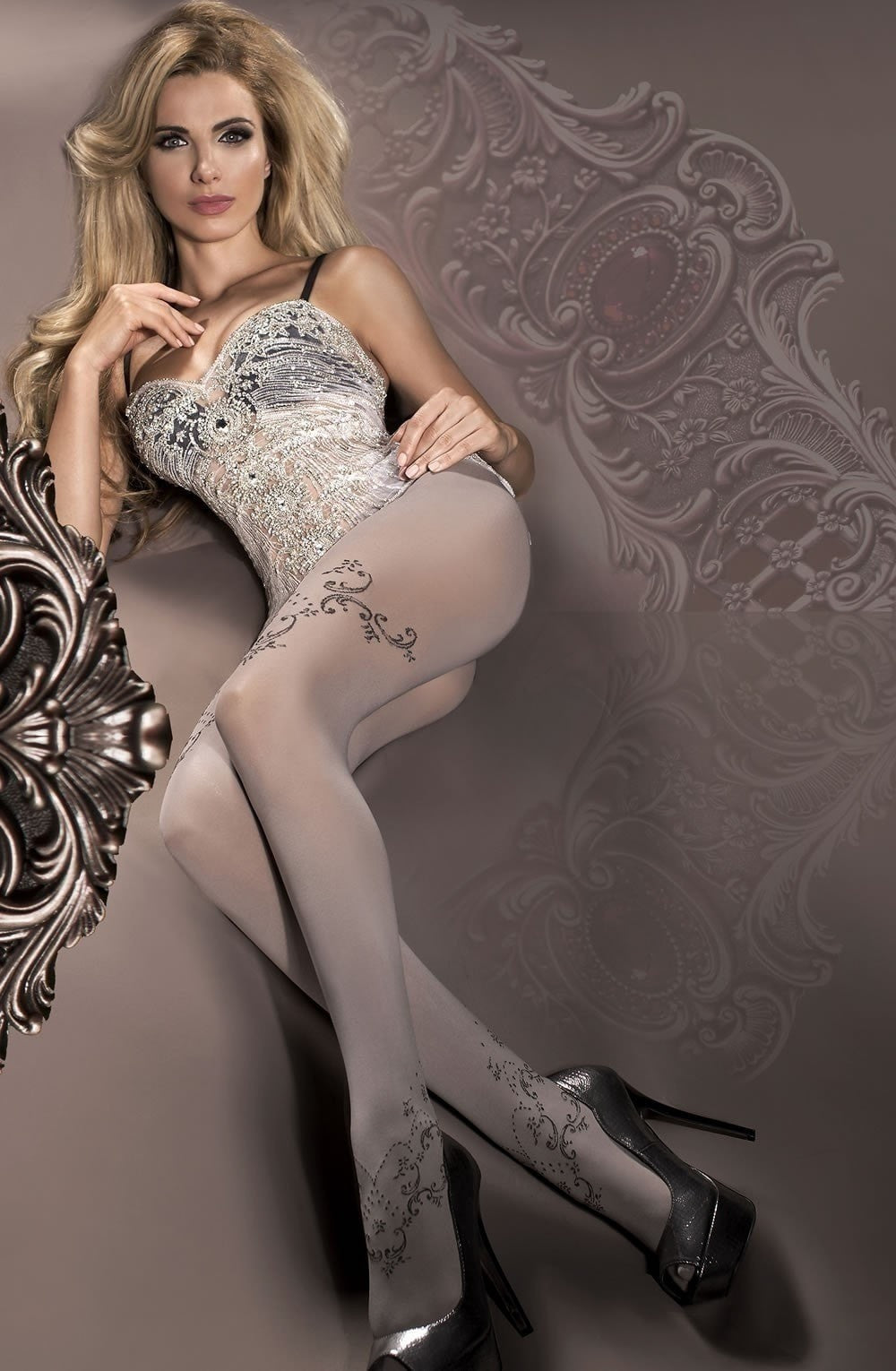Ballerina Tights 297 (Smoke) - Tights - Ballerina - Charm and Lace Boutique