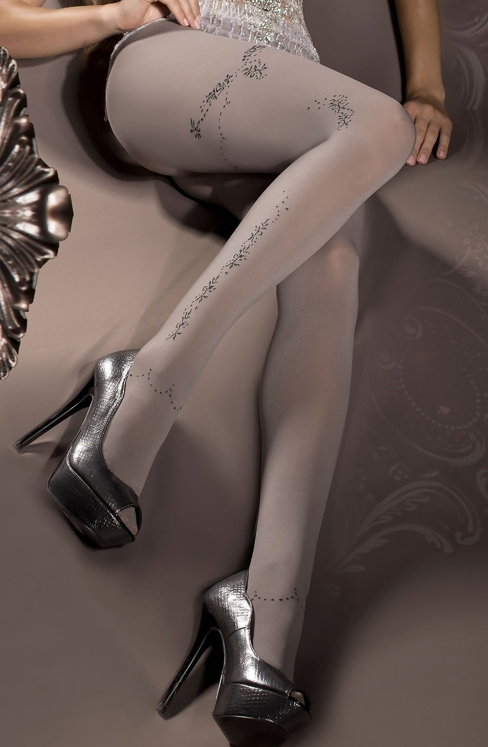 Ballerina Tights 298 (Smoke) - Tights - Ballerina - Charm and Lace Boutique