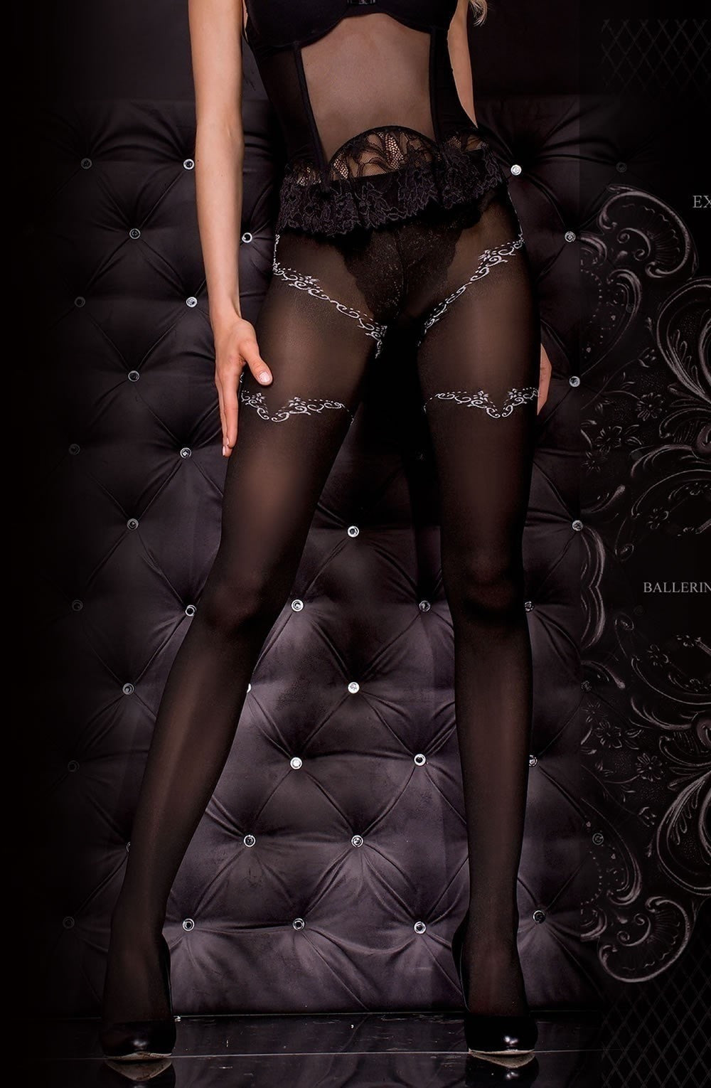 Ballerina Tights 303 (Black) - Tights - Ballerina - Charm and Lace Boutique
