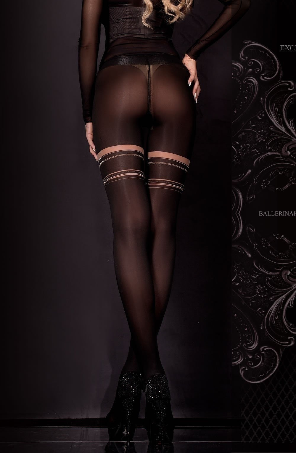 Ballerina Tights 306 (Black) - Tights - Ballerina - Charm and Lace Boutique