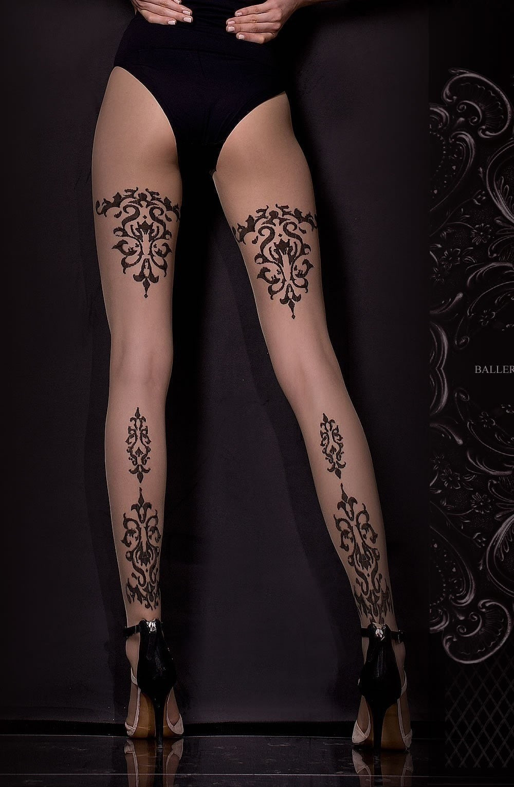 Ballerina Tights 310 (Black/Skin) - Tights - Ballerina - Charm and Lace Boutique