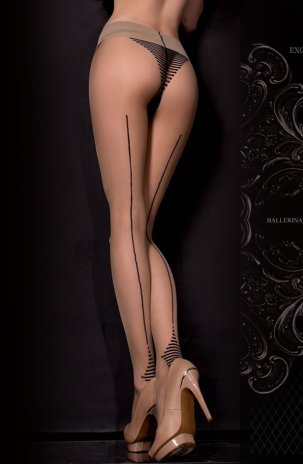 Ballerina Tights 311 (Black/Skin) - Tights - Ballerina - Charm and Lace Boutique