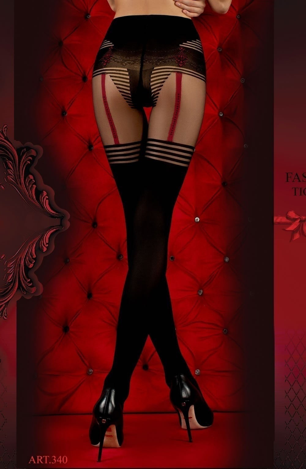 Ballerina Tights 340 (Black) - Tights - Ballerina - Charm and Lace Boutique