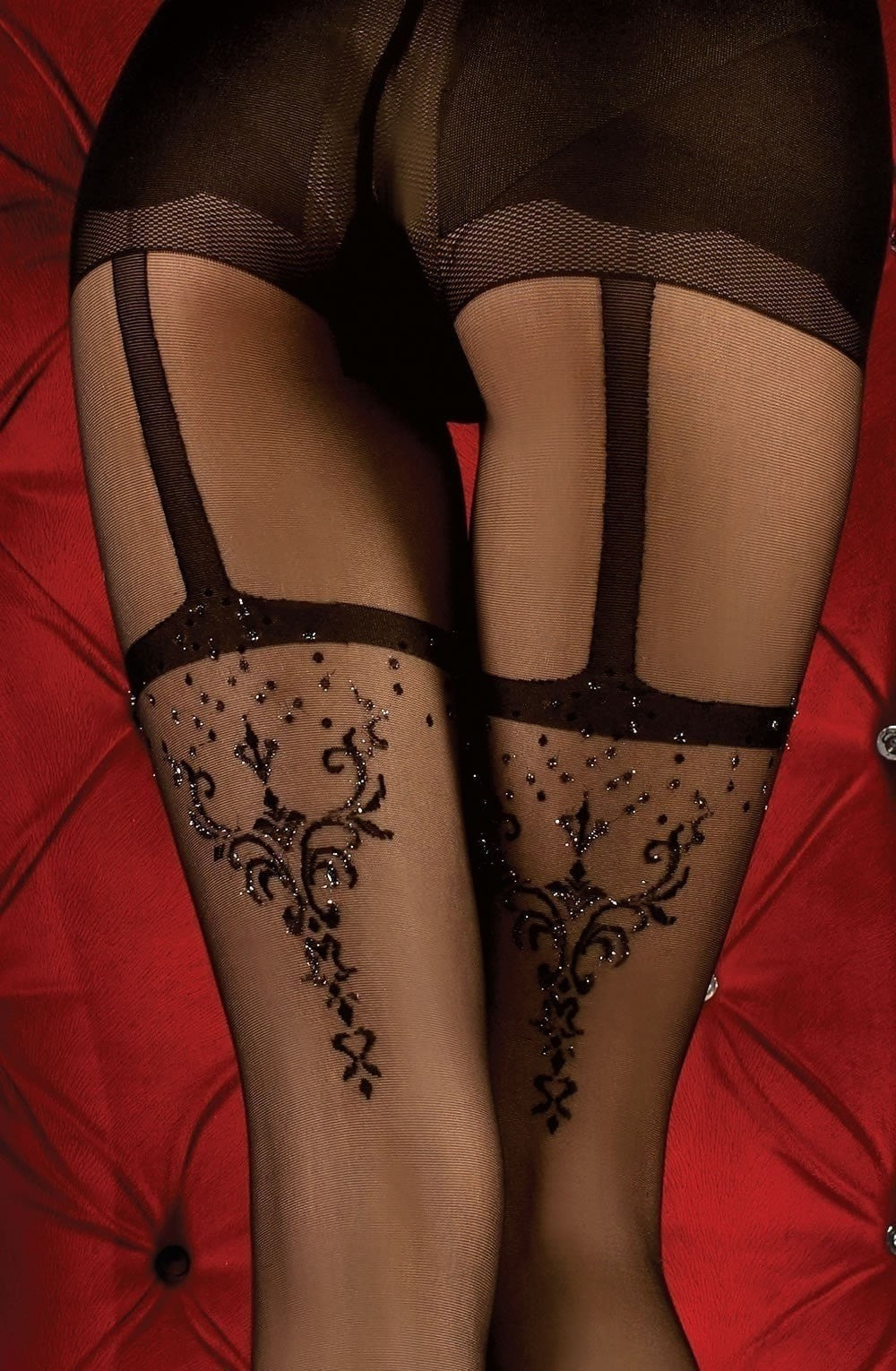 Ballerina Tights 347 (Black) - Tights - Ballerina - Charm and Lace Boutique