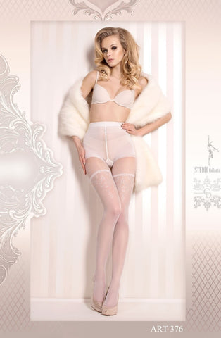 Ballerina Tights 376 (White) - Tights - Ballerina - Charm and Lace Boutique