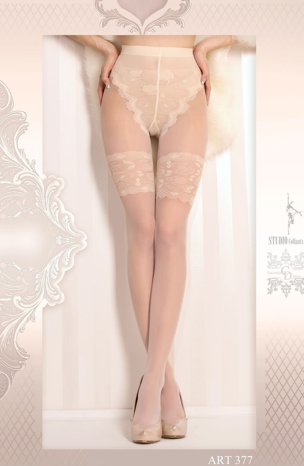 Ballerina Tights 377 (Ivory) - Tights - Ballerina - Charm and Lace Boutique
