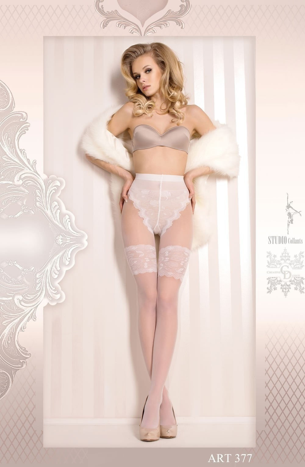 Ballerina Tights 377 (White) - Tights - Ballerina - Charm and Lace Boutique