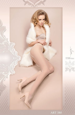 Ballerina Tights 380 (White) - Tights - Ballerina - Charm and Lace Boutique