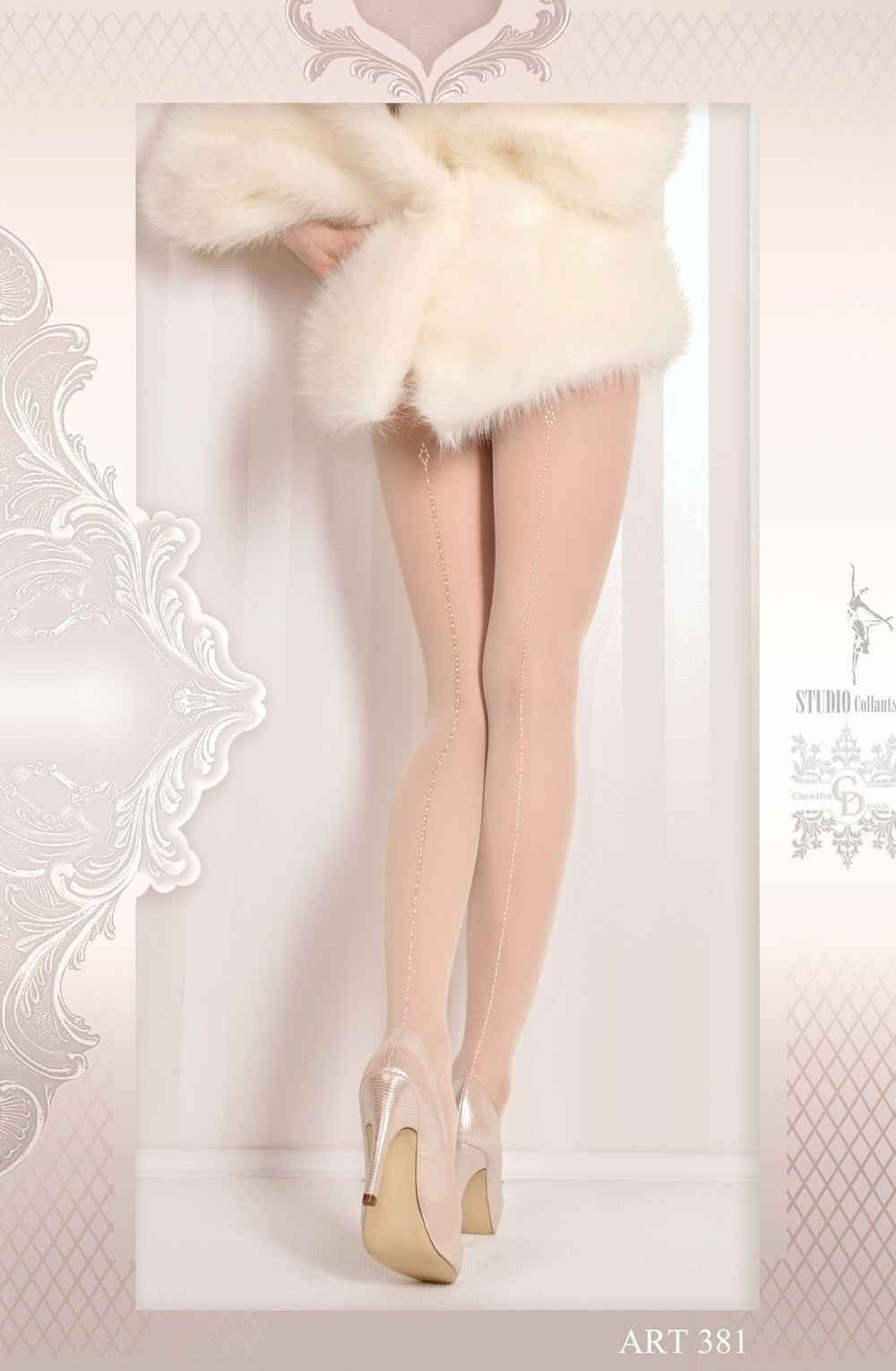 Ballerina Tights 381 (Ivory) - Tights - Ballerina - Charm and Lace Boutique