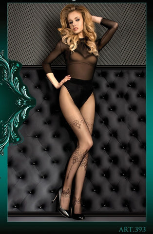 Ballerina Tights 393 (Black) - Tights - Ballerina - Charm and Lace Boutique